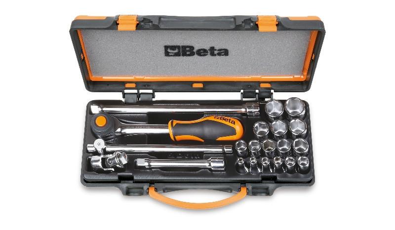 Beta 910A/C16HR 16 hatlapú dugókulcs és 5 tartozék szivacsbetétes fémdobozban