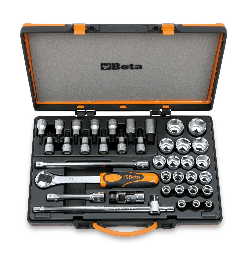 Beta 920B/C33 20 dugókulcs, 13 csavarhúzó-dugókulcs és 5 tartozék fémdobozban