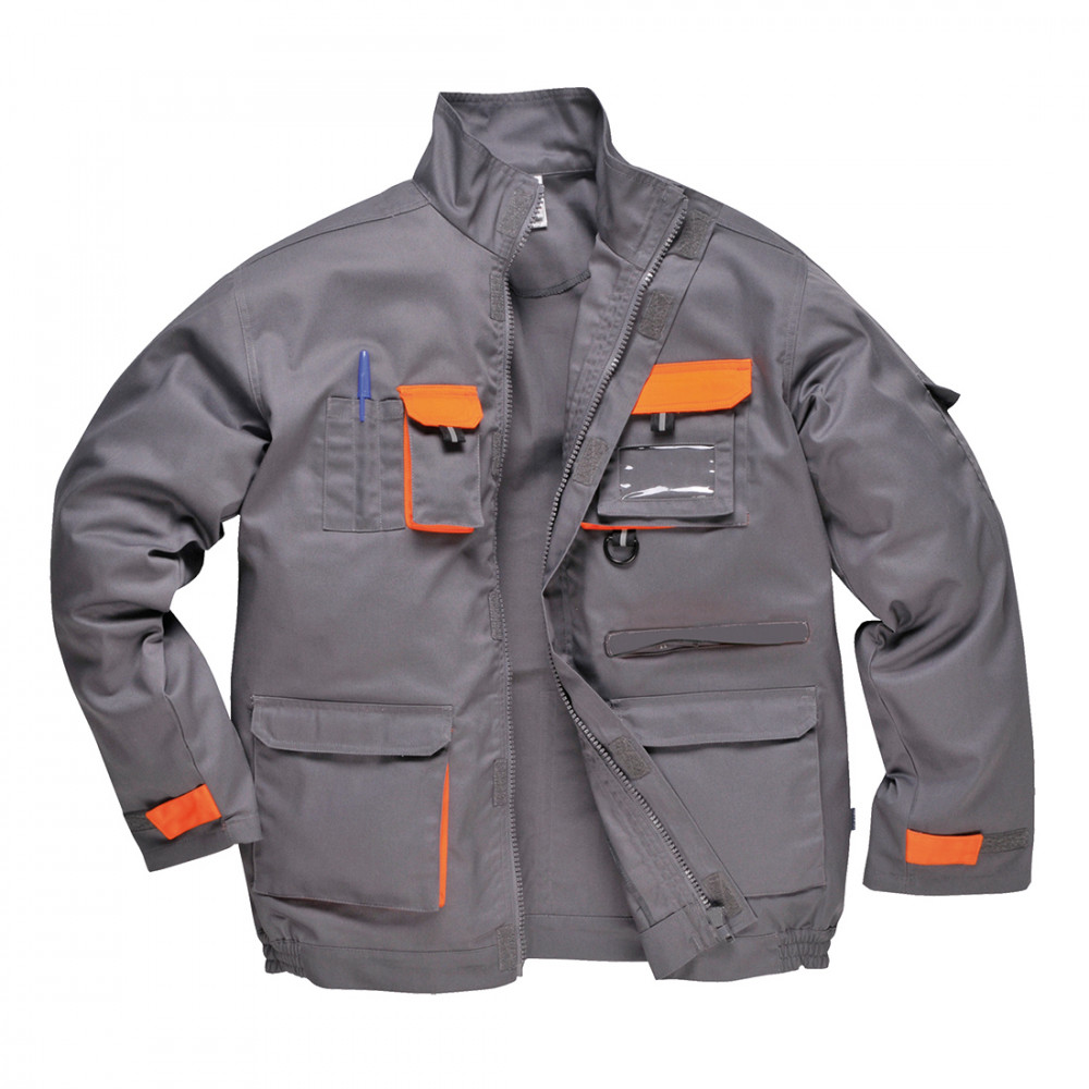 Portwest szürke Texo kétszínű kabát XS méretű - TX10GRRXS